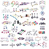 BodyJ4You 120 PCS Body Piercing ...