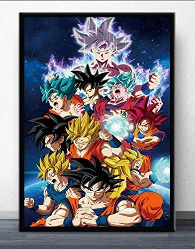 Ball Super Goku Puzzles Rompecabezas de Madera de 1000 Piezas, Rompecabezas intelectuales, Rompecabezas, Divertido Juego de Rompecabezas - Anime