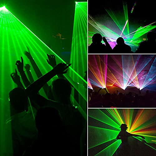 U`King Mini Dj Lights Party Light 4 Beam Effect Sound Activated Strobe Light RGBY LED Music Lights by DMX Control for Disco Dancing Birthday Bar Pub Stage Lighting