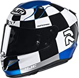 HJC NC Casco per Moto, Hombre, Negro/Blanco/Azul, M