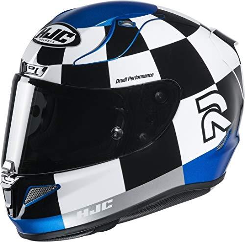 Casco moto HJC RPHA 11 MISANO MC2, Nero/Bianco/Blu, M