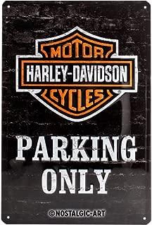 HARLEY-DAVIDSON Parking Only Embossed Metal Sign 12