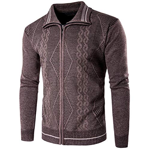 ZYUD Winter Knitted Lapel Sweater Cardigan Vintage Sweater Men Casual Coats Man Clothes Men's Cardigan Casual Lapel Knitted Men's Knit Cardigan Lapel Zipper Fashion Casual Slim Sweater Jacket