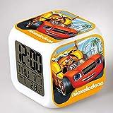 shiyueNB Blaze LED Sveglia Cartone Animato Sveglia Digitale Giocattolo per Bambini Orologio Sveglia LED Orologio da Tavolo Reloj Despertador