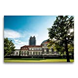 CALVENDO Toile de qualité supérieure - 75 x 50 cm - Université de Hambourg - Tableau sur châssis - Impression sur Toile véritable Orte