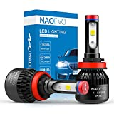 NAO H11/H8/H9 LED Headlight Bulbs, All-in-one Conversion Kit Super Bright Cool White COB
