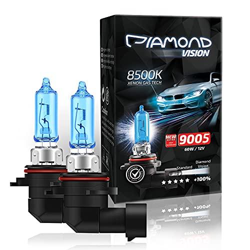 2x HB3 9005 12V 60W 8500K Diamond vision Ampoules Alogene Halogene Effet Xenon Effect Look Blue Bleu Blanc White Racicng Vision Anti Erreur Night Breaker Laser Moto