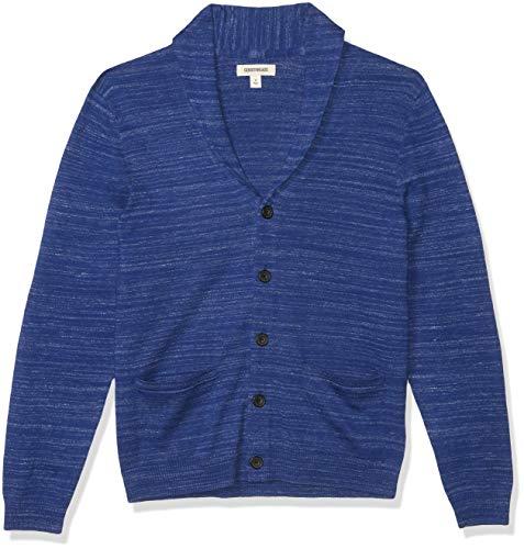 Amazon Brand - Goodthreads Men's Soft Cotton Cardigan Summer Sweater, Bright Blue, X-Large