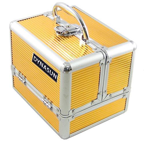 DYNASUN BS35 21x17x17cm Gold Designer Beautycase Schminkkoffer Kosmetikkoffer Schmuckfach Beauty Case Reise Box