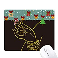 仏教の宗教ブラック・イエロー・ハンド・ロータス ゲーム用スライドゴムのマウスパッドクリスマス