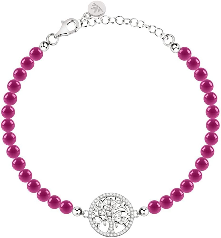 Morellato, bracciale da donna, collezione albero della vita, in argento 925,e cristalli e pietre 8033288901563
