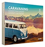 Franzis- Calendario de Adviento Caravaning VW Bulli T1, Kit de construcción de vehículo a Escala 1:24, Incluye módulo de Sonido y Libro de acompañamiento, a Partir de 14 años, Color carbón (55115-3)