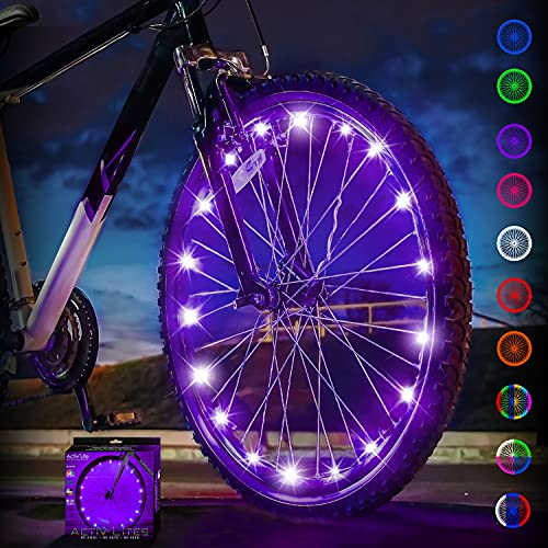 Activ Life LED Bike Wheel Lights (1 Tire, Purple) Top Birthday Presents for Girls 3 Year Old + Teens & Women. Best Unique 2021 Gift Ideas for Her, Wife, Mom, Friend, Sister, Girlfriend and Aunts