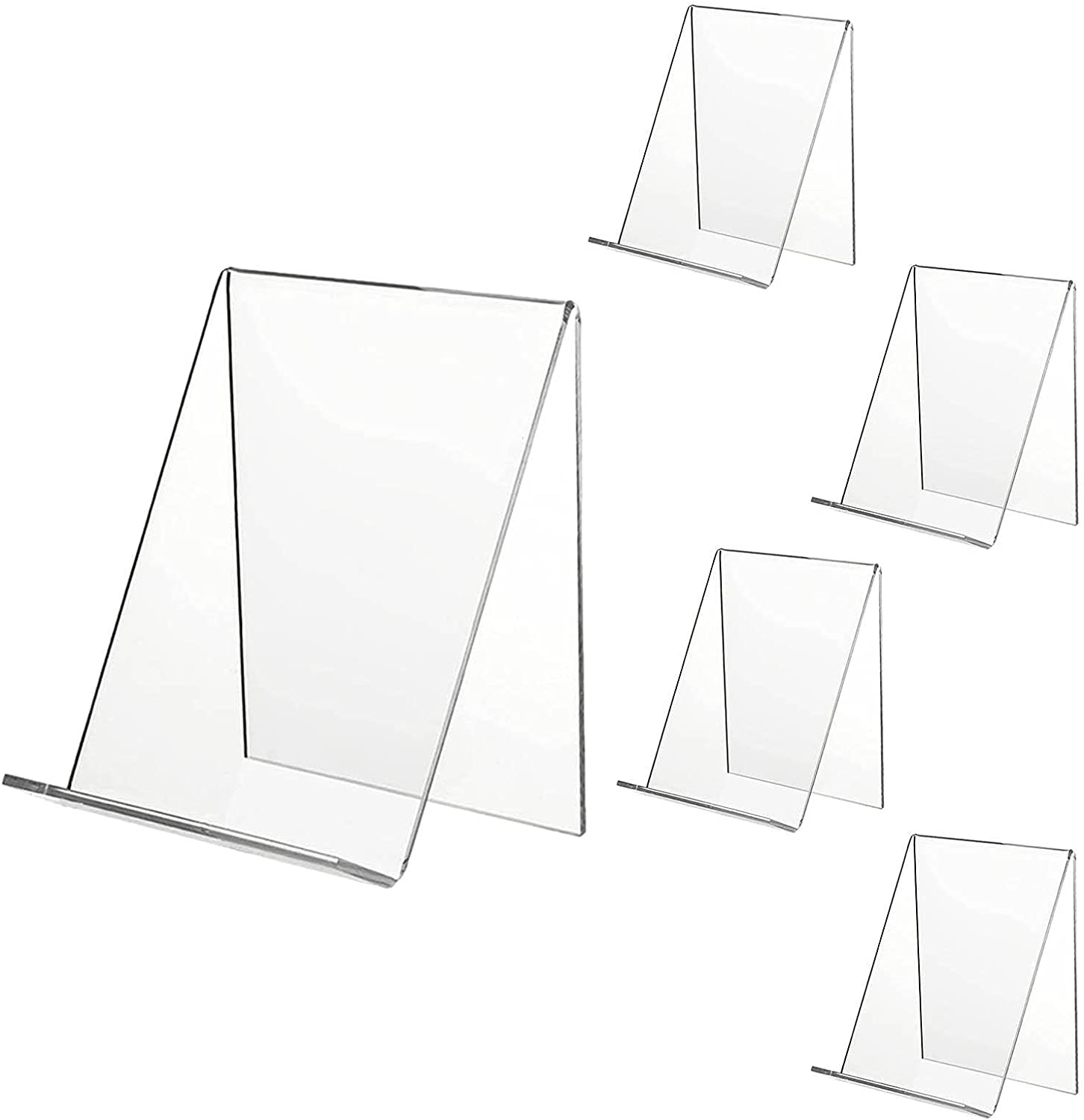 SMASAMDE 5pcs Clear All items in the store Acrylic Book New Free Shipping Stand Books Transparent