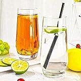 [6-Pack, 550ml/18.6oz] Design•Master-Hochwertige Highball-Gläser, Schweres Basis Hochbarglas, Trinkgläser für Wasser, Saft, Bier und Cocktail. - 3