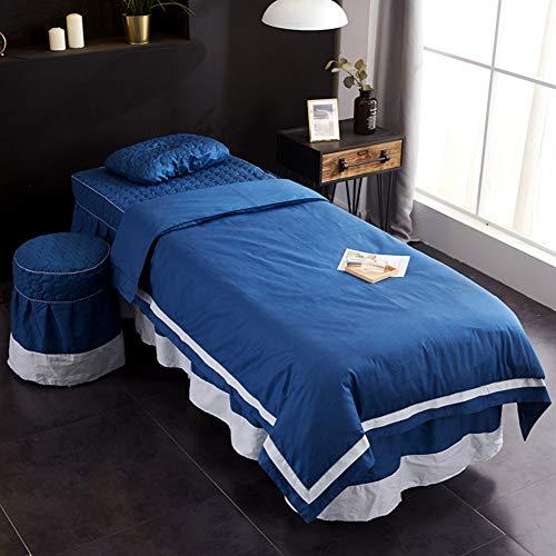 KE & LE Microvezel Massage Tafellakenset, 4-delige Premium Facial Bed Cover plat en hoeslaken met gezicht Cradle Cover aanpasbaar