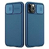 NILLKIN Funda Compatible con iPhone 12 Pro MAX, [Protección de la cámara] Estuche híbrido Parachoques Premium no voluminoso Delgado Funda rígida para PC Compatible con iPhone 12 Pro MAX 6.7'-Azul