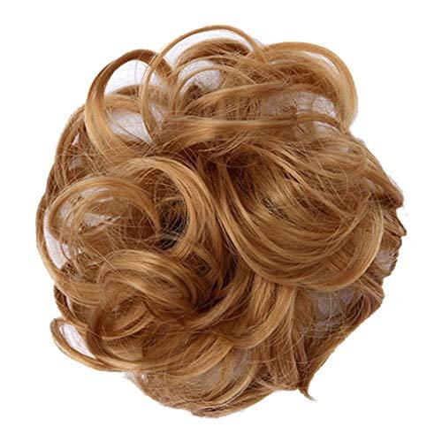 HLUKY Chignon De Cheveux Queue Cheval Postiche Épaississement Chouchou Updos Fibre Synthétique Cheveux Humains Perruques Extensions En Cravates Perruque Chouchous Velours Élastique Bandes