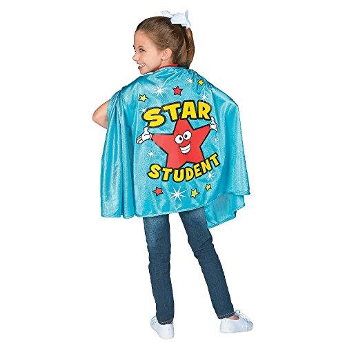 Fun Express Blue Star Student Cape - Apparel Accessories - 1 Piece