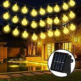 Solar Lichterkette, 30er LED Solar Lichterkette 8 Modi IP65 Wasserdicht Garten Lichterkette...