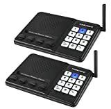 Wireless Home Intercom System, 10 Channel 3 Digital Code - Room to Room Intercoms, Hands-Free Voice Activated Transmissions, Available for Room and Office(Back 2)