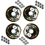 M-Parts 2 Pair 10' X 2-1/4'(10'' X 2.25'') Electric Trailer Brake Assembly for 3,500 lbs Trailer Axles; 2 Left Hand (77-10-1)+ 2 Right Hand (77-10-2); Free Hardware Included