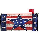 Wamika American Memorial Independence Day Patriotic Eagle Star Mailbox Cover Magnetic Standard Size,Spring 4th of July Letter Post Box Cover Wrap Decoration Welcome Home Garden Outdoor 21' Lx 18' W
