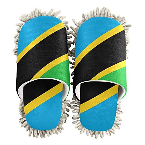 Zapatillas de limpieza unisex con la bandera de Tanzania