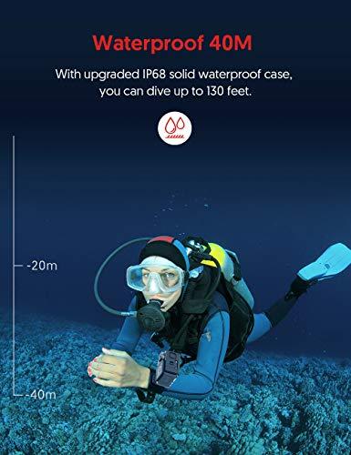 Victure Action Cam 4K Wifi 170° Weitwinkel Aktionkameras Wasserdicht 40M Unterwasserkamera 20MP Ultra Full HD Sport Action Kamera mit Ladegerät 2 Akkus und Gratis Zubehör - 3