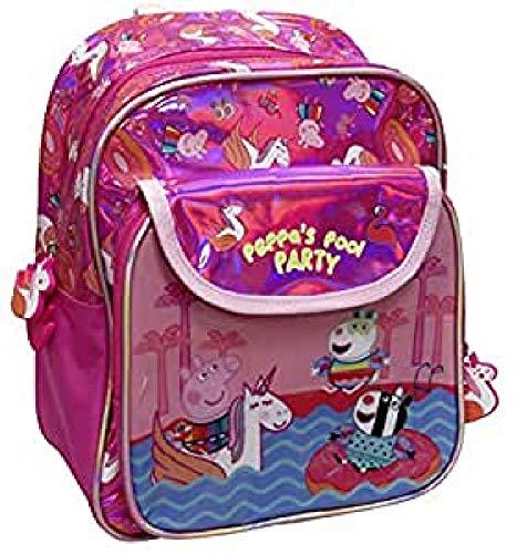 CYP Brands - Mochila Escolar Peppa Pig Rosa para Niñas con Bolsillos Frontales, 30 cm