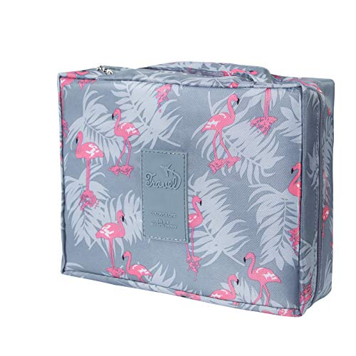 AFSTEE Travel Makeup Bag, Portable Cosmetic Toiletry Bags, Large Makeup Case with Zipper for Women and Girls
