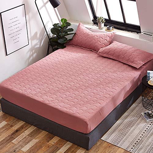 HAIBA Protector de colchón impermeable para cama ajustable, transpirable, a prueba de manchas, no alérgico y no ruidoso, ajuste fácil, 150 x 200 cm + 30 cm