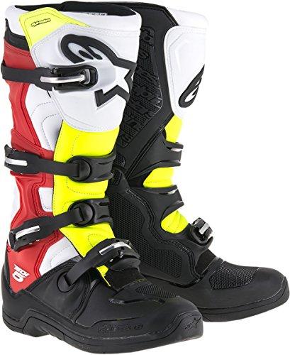 Alpinestars Tech 5 - Botas negras en negro/rojo/amarillo, talla 43