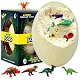 Jumbo Dino Eggs Dig Kit - Dig up The Giant Dinosaur Eggs Toys for Kids and Discover 12 Surprise Dinosaurs - Archeology Science STEM Kids, Best Crafs Gifts for Boys and Girls Dinosaur Toys (X-Large)
