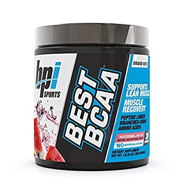 BPI Sports Best BCAA - BCAA Powder - Branched Chain Amino Acids - Muscle Recovery - Muscle Protein Synthesis - Lean Muscle - Improved Performance – Hydration – Watermelon Ice - 30 Servings - 10.58 oz.