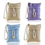 Healifty 4 confezioni di sacchetti per purificare l'aria e scarpa per rimuovere gli odori eliminatore di odori deodorante al carbone di bambù (colore casuale)