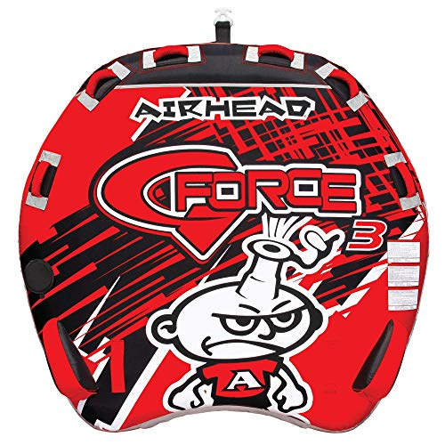 Airhead GForce 14 Rider Towable Tube for Boating Red AHGF3