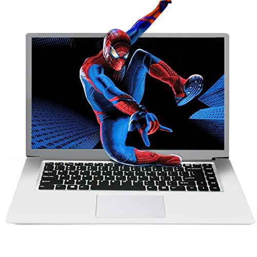 BlueBose HD Notebook da 15,6 pollici Windows 10 Home, processore Atom quad core, 64 GB   128 GB eMMC 4 GB di spazio di archiviazione RAM, USB 3.0 HDMI, PC ultrabook sottile e leggero (argento 64GB)