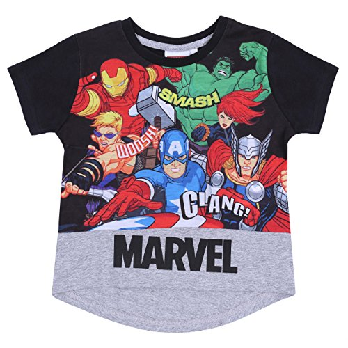 Camiseta Negra superhéroes Marvel - 2-3 Años 98 cm