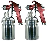 Astro Pneumatic Tool 4008 Spray Gun with Cup - Red Handle 1.8mm Nozzle (Тwo Рack)