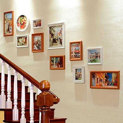 Fotolijst*The staircase Hyun gateway corridor muurpaintings murals of mediterrane combo box, white walnoot town impression