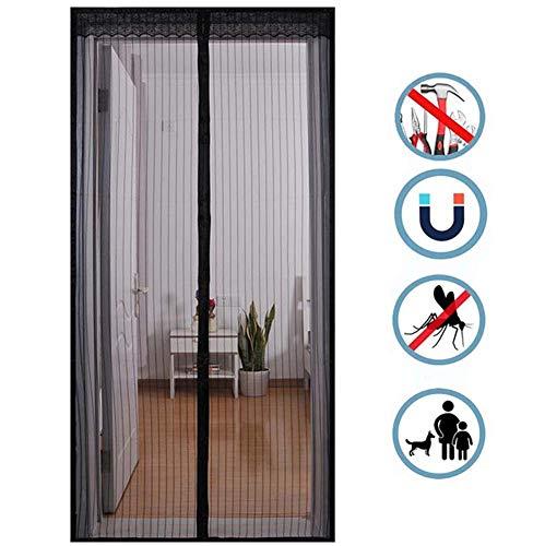 Magnetische Screen Door, Insect Balkondeur Vliegengordijnen, Zelfklevende Montage Zonder Boren, Voor Patio Deur, Kelderdeur En Balkondeur