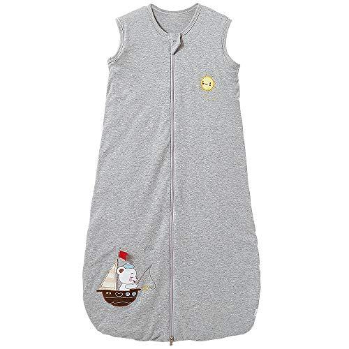 Saco de dormir para bebé, niña, pijama de invierno, gris, 2,5 tog, 150 (6-10 años), barco de vela gris