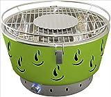 ACTIVA Griglia da Tavolo Griglia a Carbone Airbroil in Acciaio Inossidabile con Ventilazione Attiva Verde
