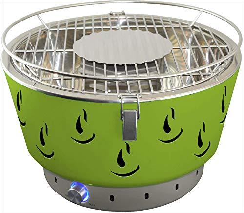 ACTIVA Parrilla de Mesa Parrilla de carbón de Acero Inoxidable Airbroil con ventilación Verde
