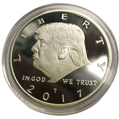 N / A Donald Trump Goldmünze 2017 vergoldet Sammelmünze 45. Präsident Einweihungsmünze GoodService Gold (Silber)