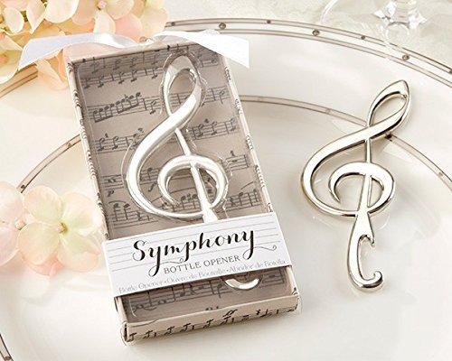 Lotto di 30apribottiglie a forma di nota musicale in confezione regalo- Bomboniere di nozze originali per invitati