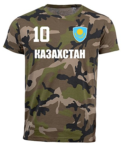 aprom Kasachstan Camouflage T-Shirt - All-10 - Trikot Army Look WM World Cup Ka3axctah (M)