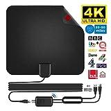 TV Antenne HD,dvbt 2 antenne 50-80 Miles Freeview Digitale HDTV Antenne für DVB-T/DVB-T2 Zimmerantenne Fernseher USB Powersupply VHF UHF HDTV Antenne und 16,4ft...