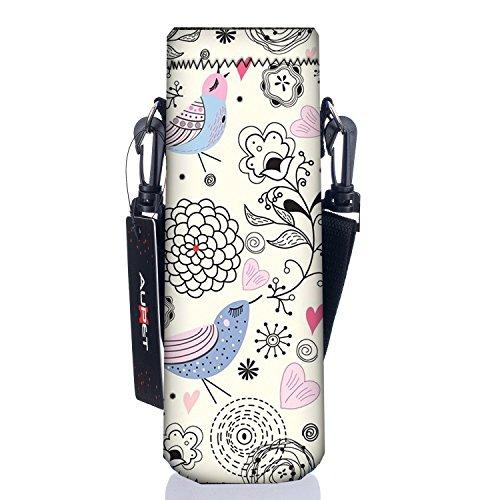 AUPET 水筒カバー 携帯式ボトルカバー 水筒ケース 調節可能なショルダーストラップある 3.34インチ 約8.5cm 以下直径のボトルに合う 1000ML, PBC-34